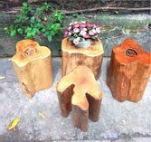 Bàn ghế đôn gỗ bằng lăng