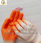 Găng tay phủ PU cam