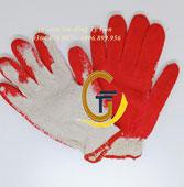Găng tay phủ PU đỏ