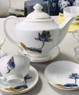 ấm trà phú quý sen xanh