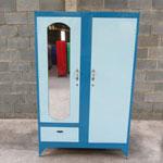 Tủ sắt 2 buồng cao 1m2 màu xanh lam