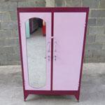 Tủ sắt 2 buồng cao 1m4 màu hồng