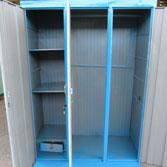 Tủ sắt 3 buồng màu xanh lam