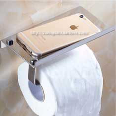 Lô giấy vệ sinh inox để điện thoại