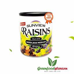 Nho khô 3 màu Sunview Raisins