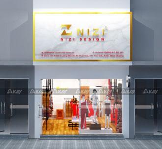 Thiết kế thi công shop thời trang Nizi