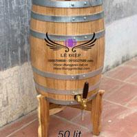 Thùng rượu gỗ sồi dáng đứng