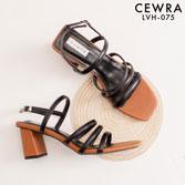 Giày Sandal gót vuông 7 phân Cewra