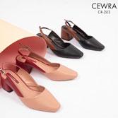 Giày cao gót 5 phân đế vuông Cewra