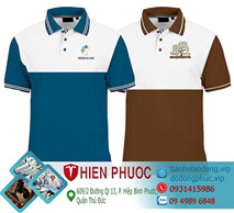 Áo thun đồng phục phối 2 màu