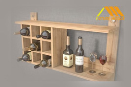 Kệ rượu gỗ trang trí