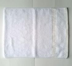 Khăn tắm thể thao trắng 2 viền