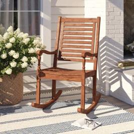 Ghế bập bênh bằng gỗ keo rắn