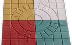 Terrazzo bê tông màu