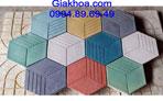 Gạch lục giác bê tông màu