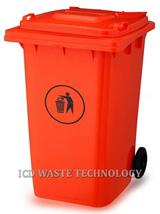 Thùng đựng rác nhựa 240L màu đỏ
