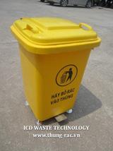 Thùng rác nhựa cố định 60L