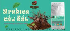 Cà phê Arabica cầu đất tẩm bơ