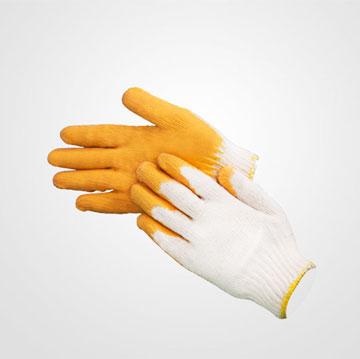 Găng tay phủ cao su một lớp