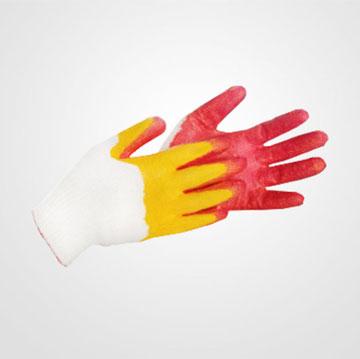 Găng tay phủ cao su hai lớp