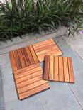 Wood deck tile