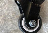 Bánh xe đẩy PVC đen trắng
