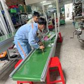 Băng tải PVC kết hợp thang lăn