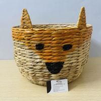 Animal basket storage panda shaped