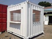 Container văn phòng 10 feet làm bảo vệ
